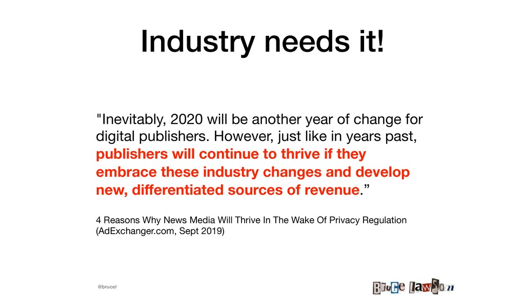 "@brucel Industry needs it! ""Inevitably, 2020 wi..."