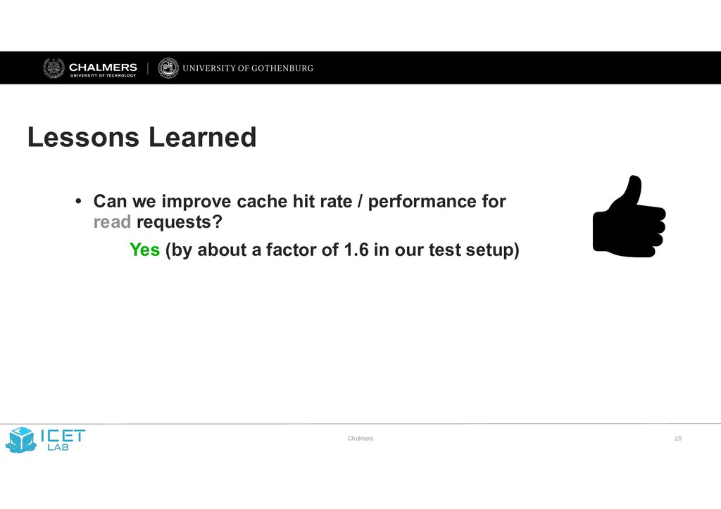 Chalmers !25 Lessons Learned • Can we improve c...