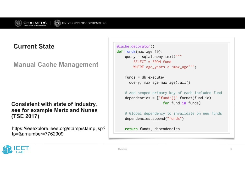 Chalmers !8 Current State Manual Cache Manageme...