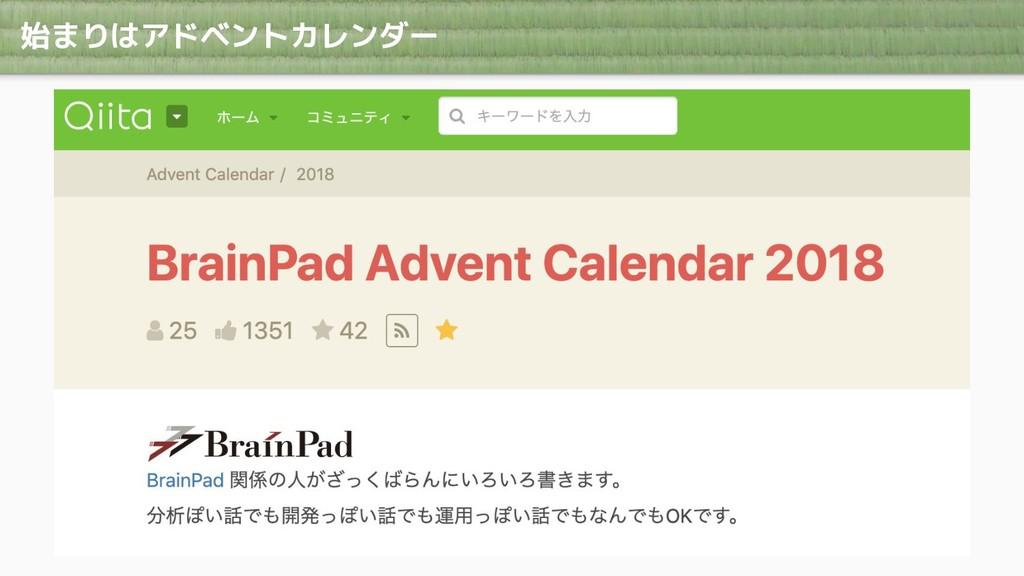 始まりはアドベントカレンダー