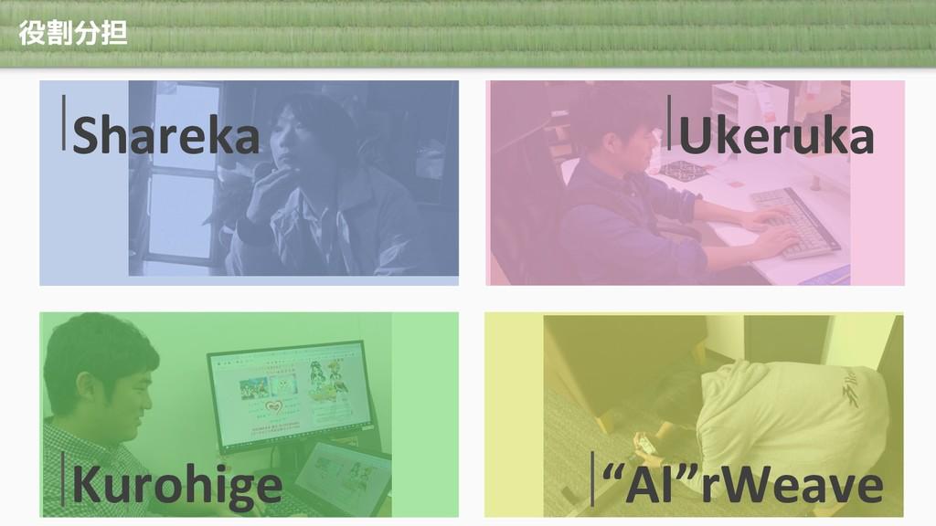 """役割分担 Shareka Ukeruka Kurohige """"AI""""rWeave"""