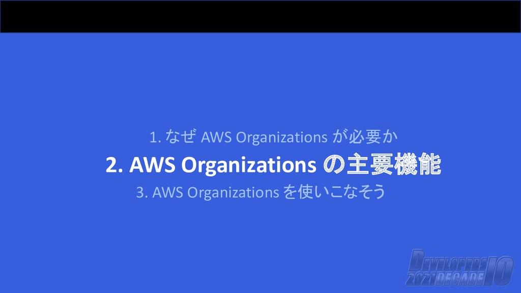 1. なぜ AWS Organizations が必要か 2. AWS Organizatio...
