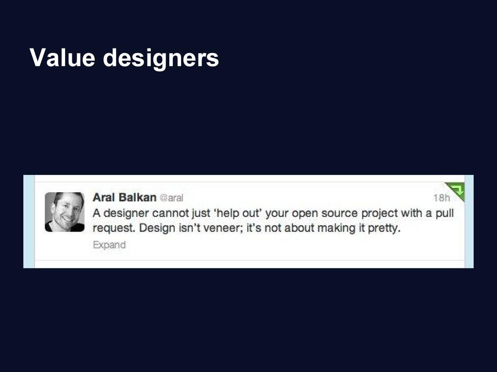 Value designers