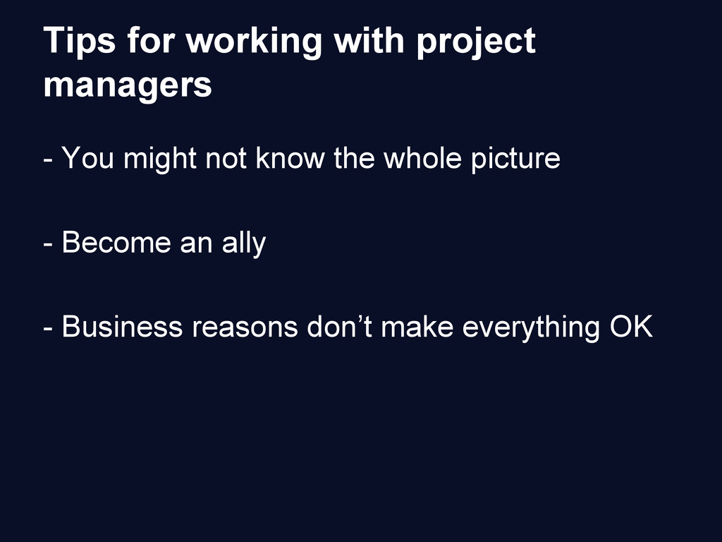 Tips for working with project managers - You mi...