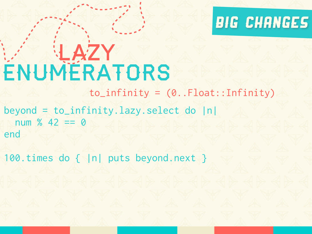 Lazy Enumerators to_infinity = (0..Float::Infin...