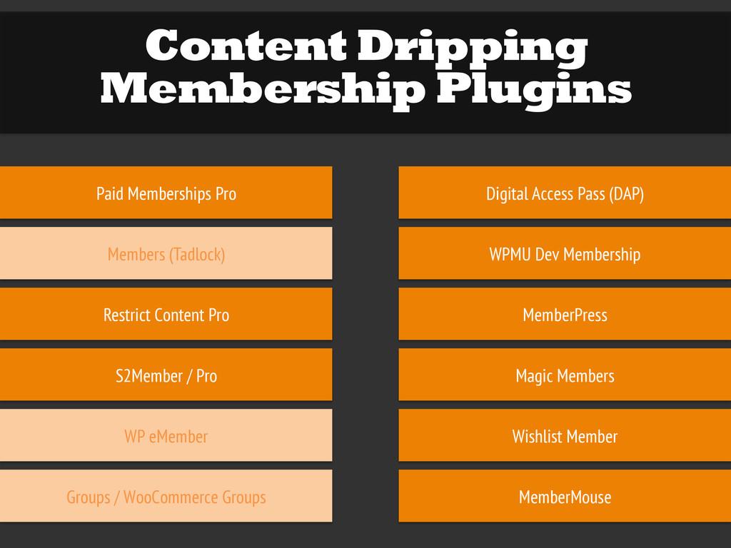 Content Dripping Membership Plugins Paid Member...