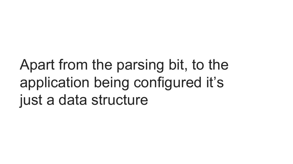 Apart from the parsing bit, to the application ...