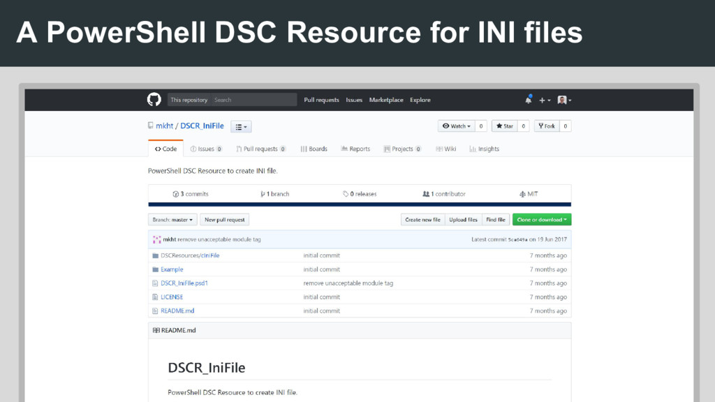 A PowerShell DSC Resource for INI files