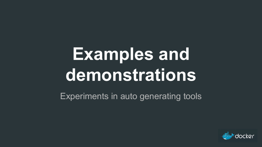 Examples and demonstrations Experiments in auto...