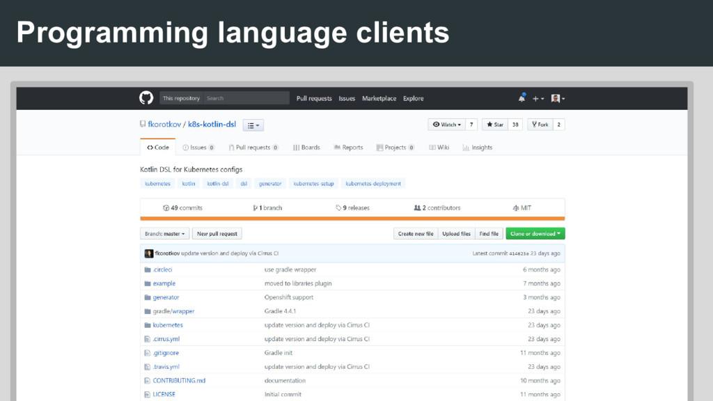 Programming language clients