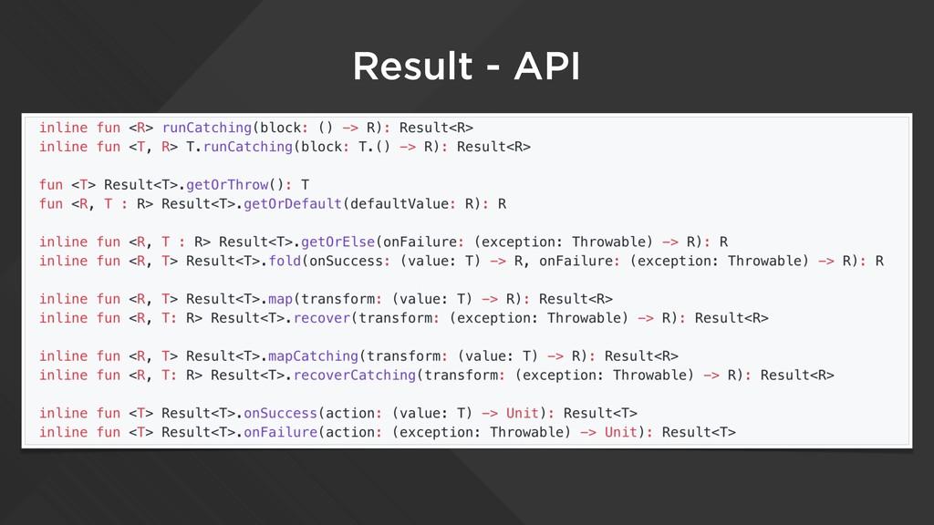 Result - API