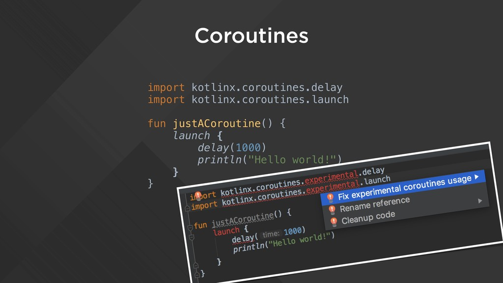 Coroutines import kotlinx.coroutines.delay impo...