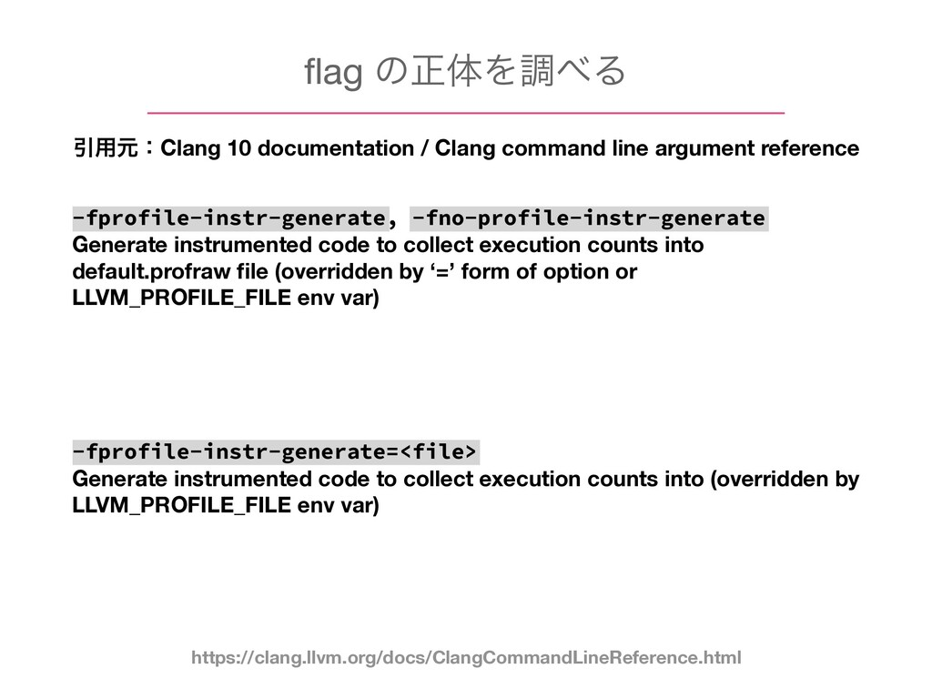 flag ͷਖ਼ମΛௐ΂Δ Ҿ༻ݩɿClang 10 documentation / Clang ...
