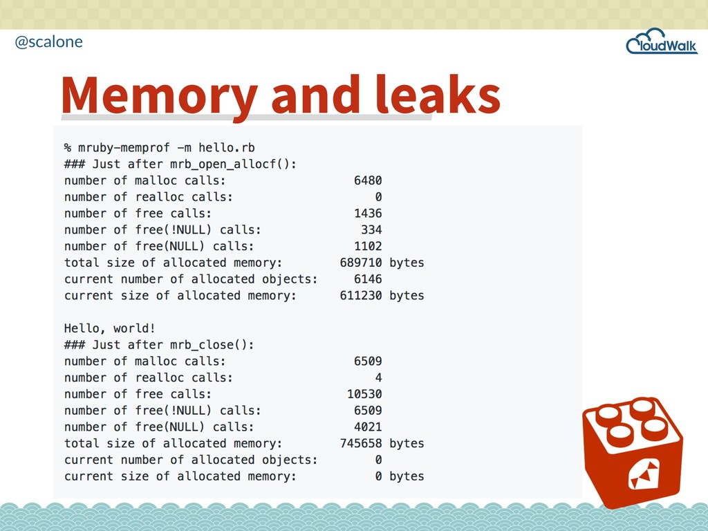 @scalone Memory and leaks