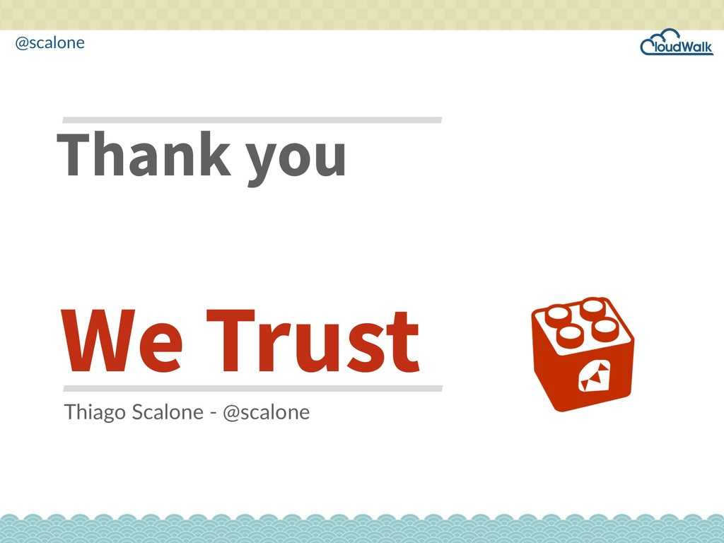 @scalone Thank you We Trust Thiago Scalone - @s...