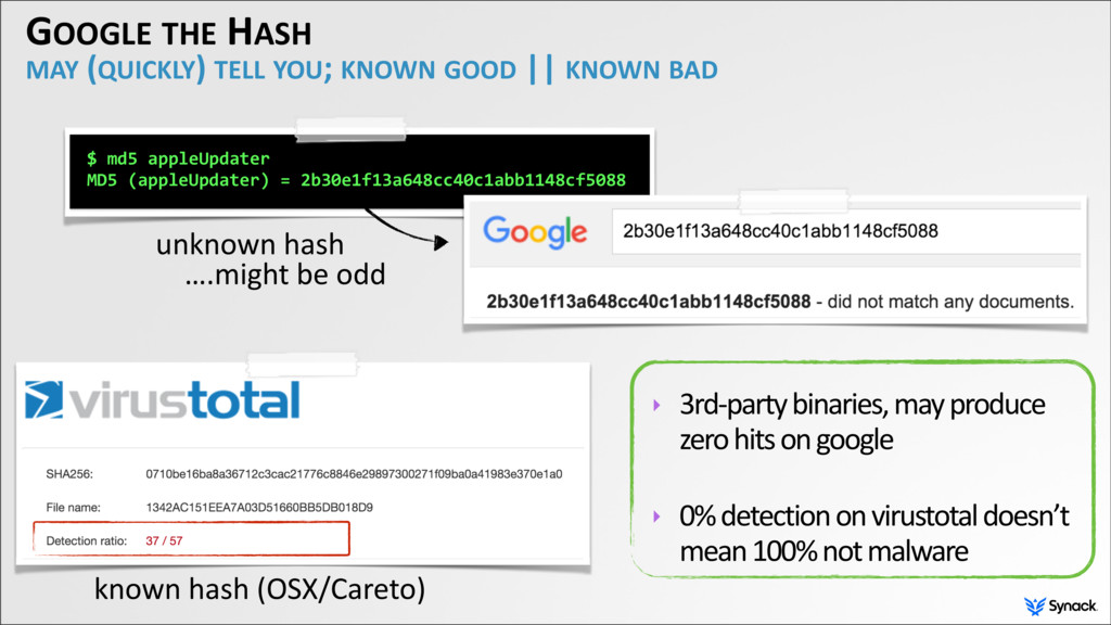 GOOGLE THE HASH MAY (QUICKLY) TELL YOU; KNOWN G...