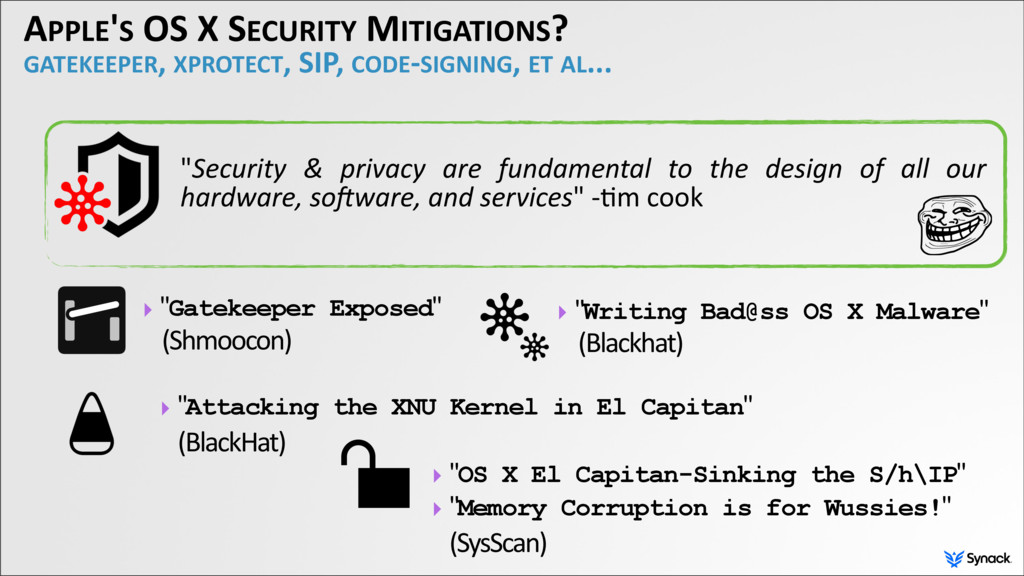 APPLE'S OS X SECURITY MITIGATIONS? GATEKEEPER, ...