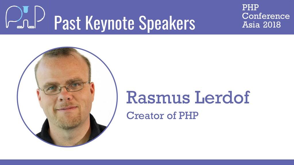 Past Keynote Speakers Rasmus Lerdof Creator of ...