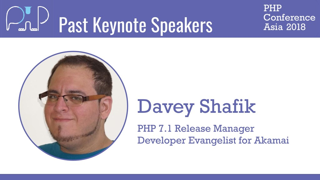 Past Keynote Speakers Davey Shafik PHP 7.1 Rele...