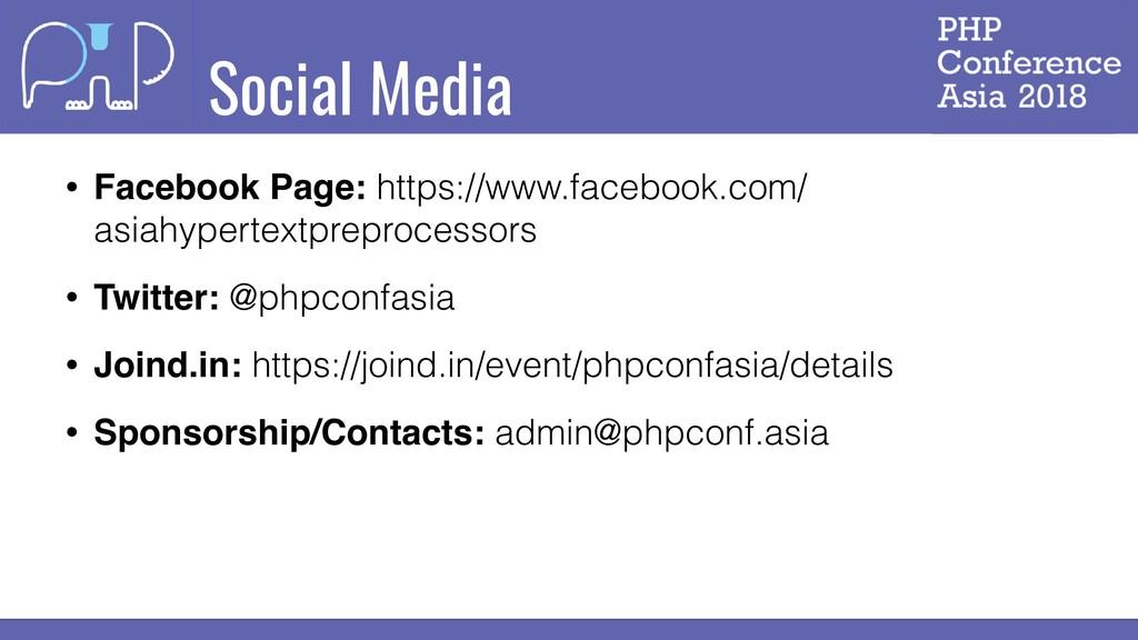 Social Media • Facebook Page: https://www.faceb...