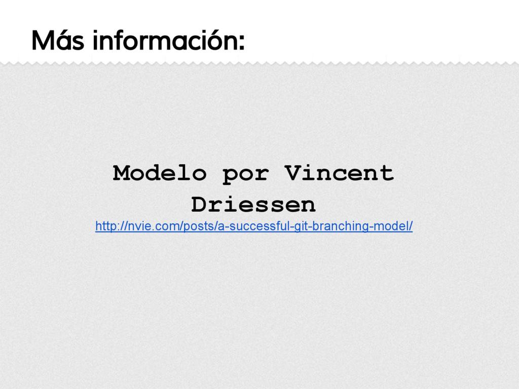 Modelo por Vincent Driessen http://nvie.com/pos...