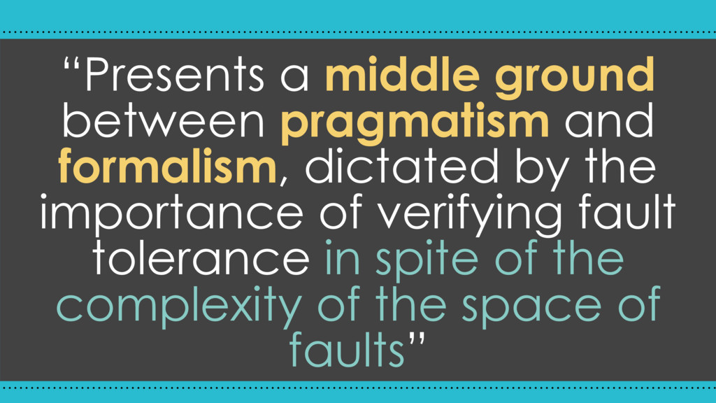 """Presents a middle ground between pragmatism an..."