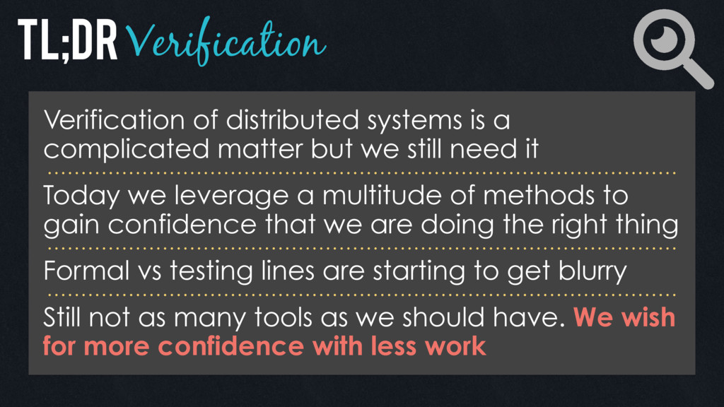 Verification Verification of distributed system...