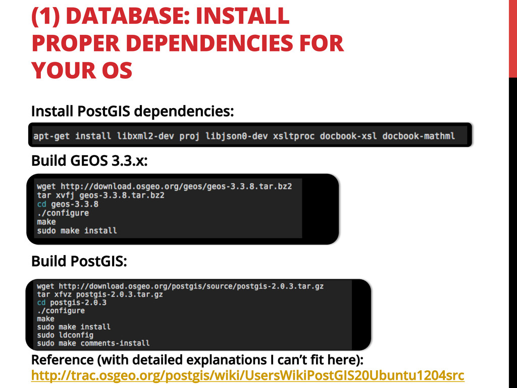 (1) DATABASE: INSTALL PROPER DEPENDENCIES FOR Y...