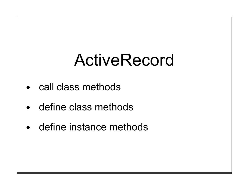 ActiveRecord call class methods define class me...