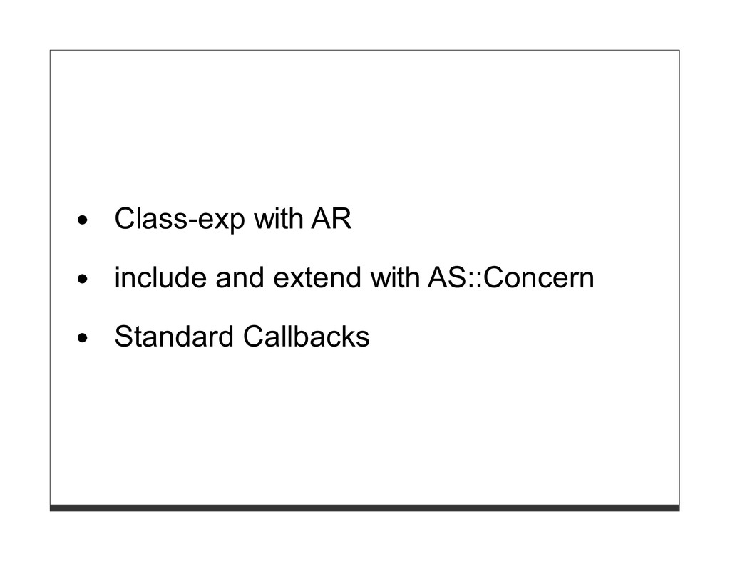 Class-exp with AR include and extend with AS::C...