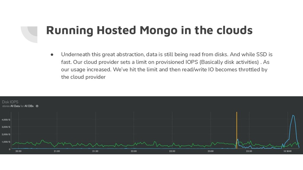 Running Hosted Mongo in the clouds ● Underneath...