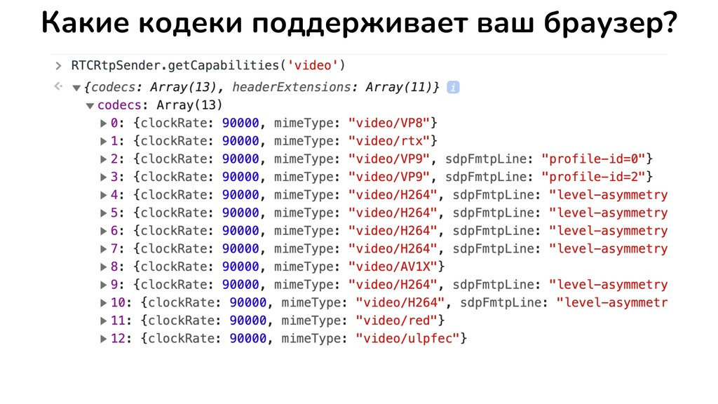Какие кодеки поддерживает ваш браузер?
