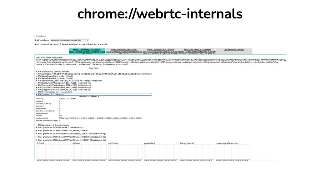 chrome://webrtc-internals