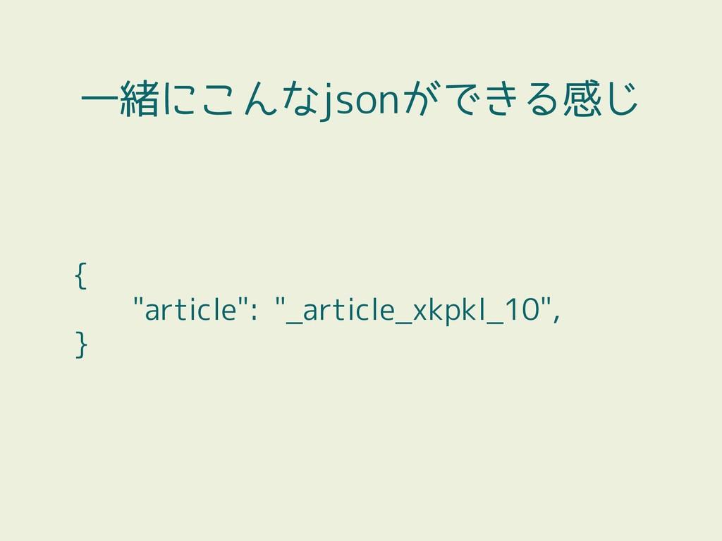 """{ """"article"""": """"_article_xkpkl_10"""", } 一緒にこんなjsonが..."""
