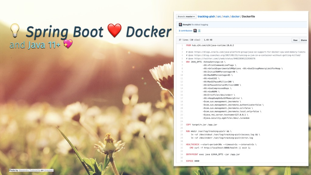 ✨ @tboeghk ✨  Spring Boot ❤ Docker and Java 11+...