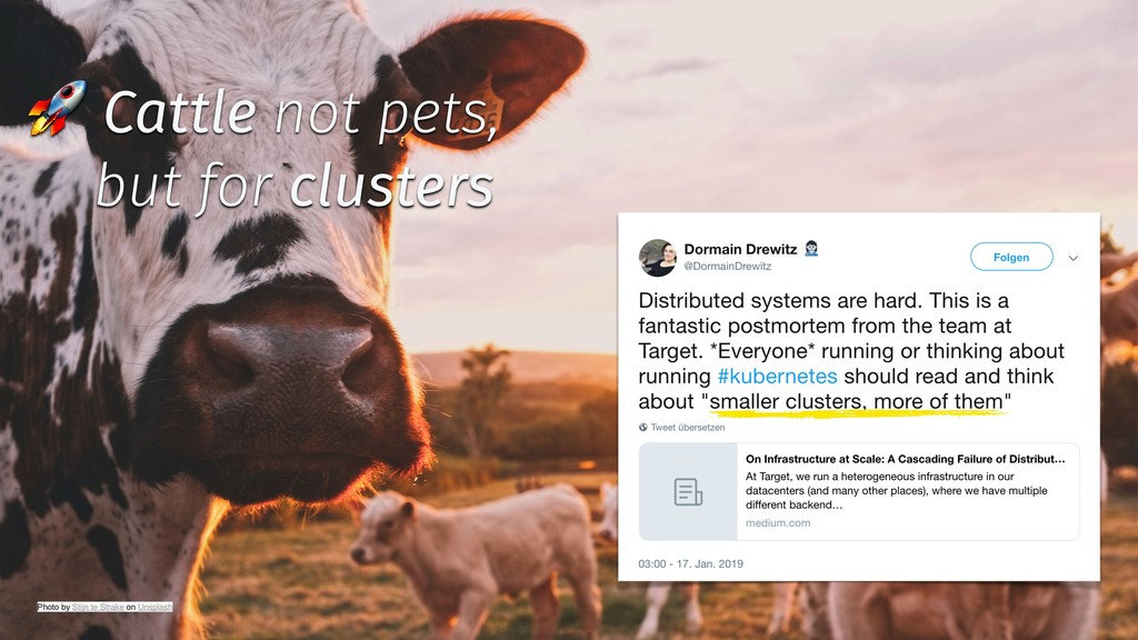 ✨ @tboeghk ✨  Cattle not pets, but for clusters...