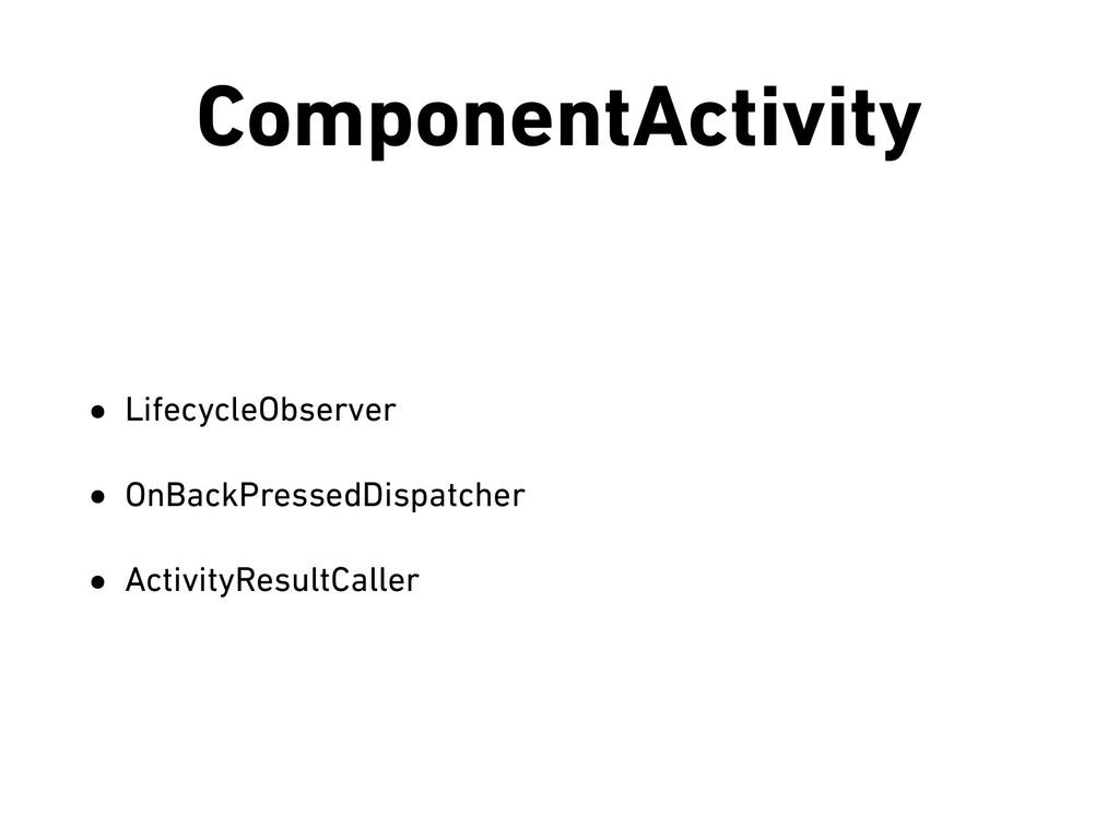 ComponentActivity • LifecycleObserver • OnBackP...