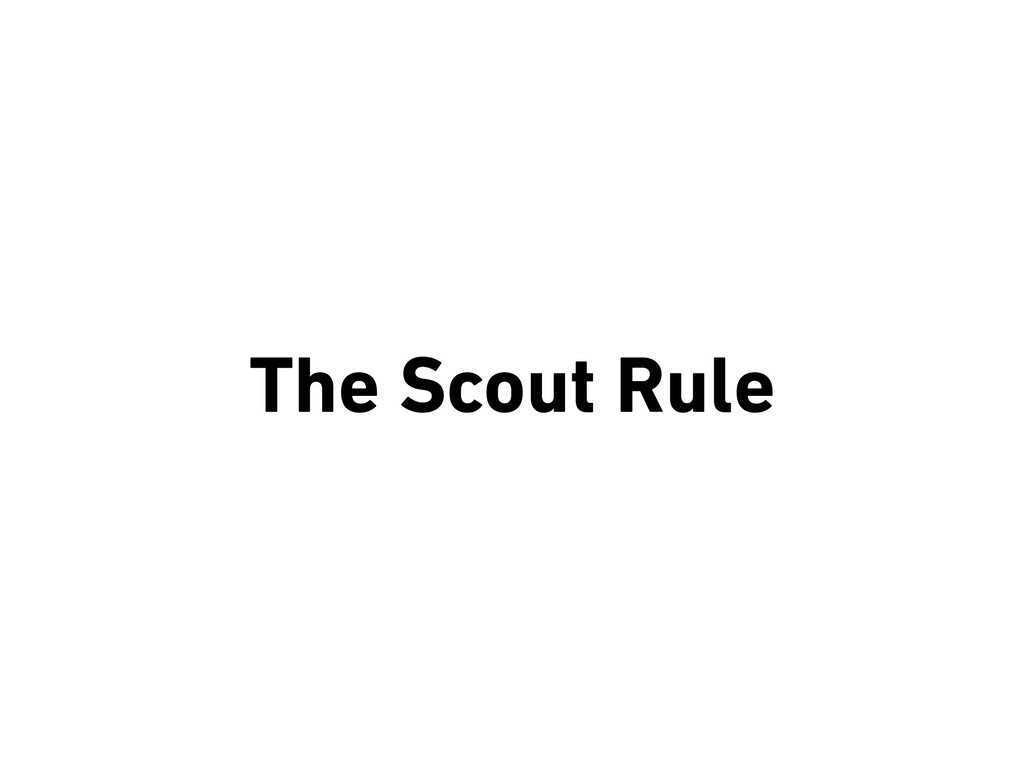 The Scout Rule