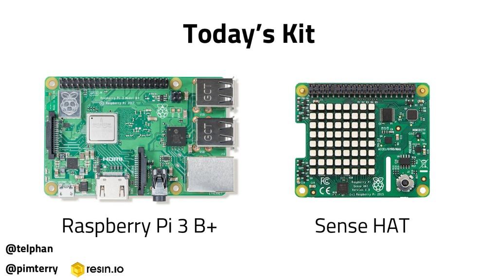 Today's Kit @pimterry Raspberry Pi 3 B+ Sense H...
