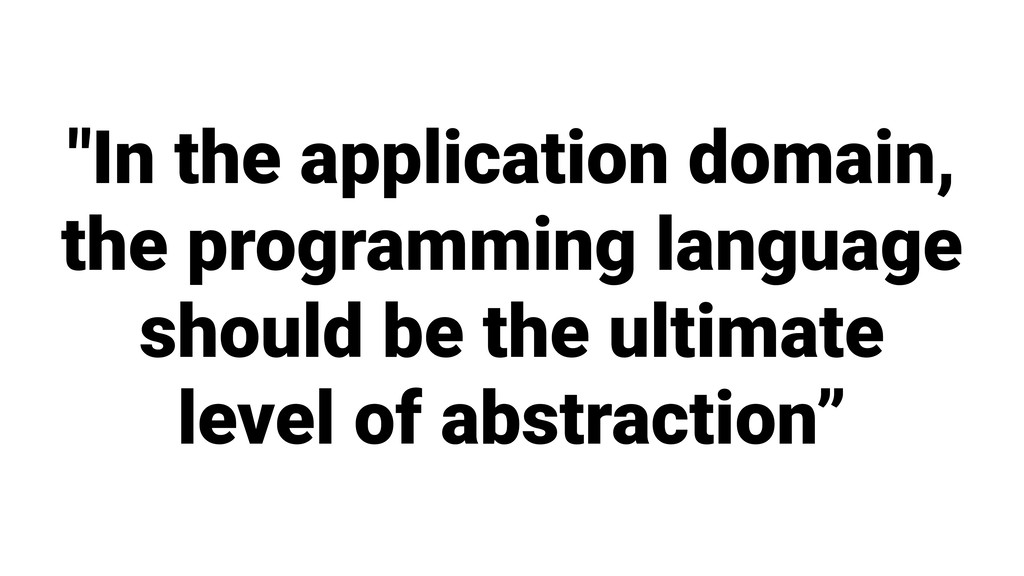 """In the application domain, the programming lan..."