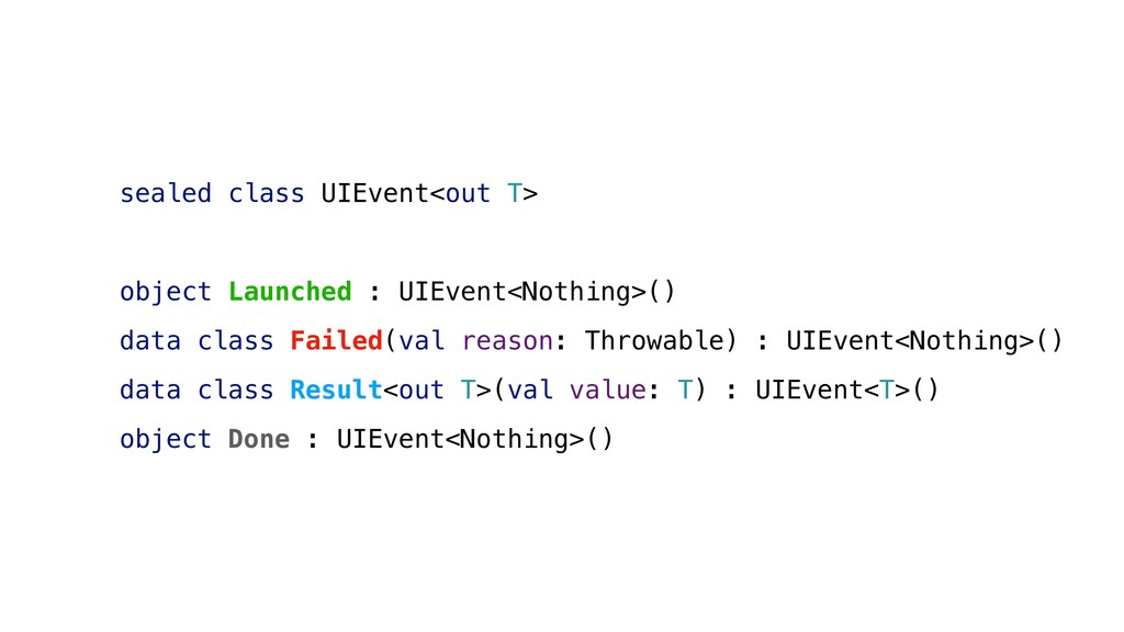 sealed class UIEvent<out T> object Launched : U...