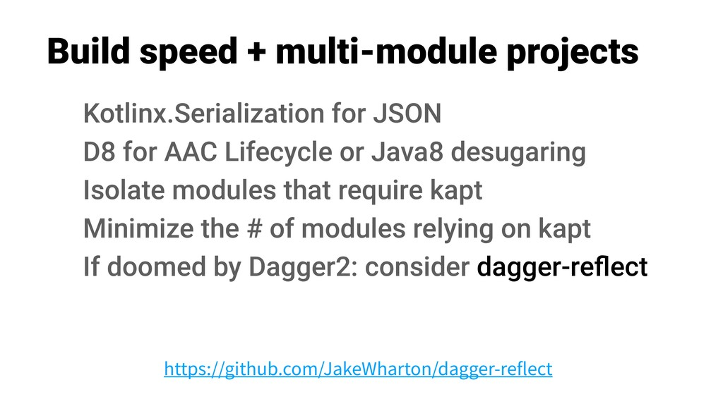 Build speed + multi-module projects Kotlinx.Ser...