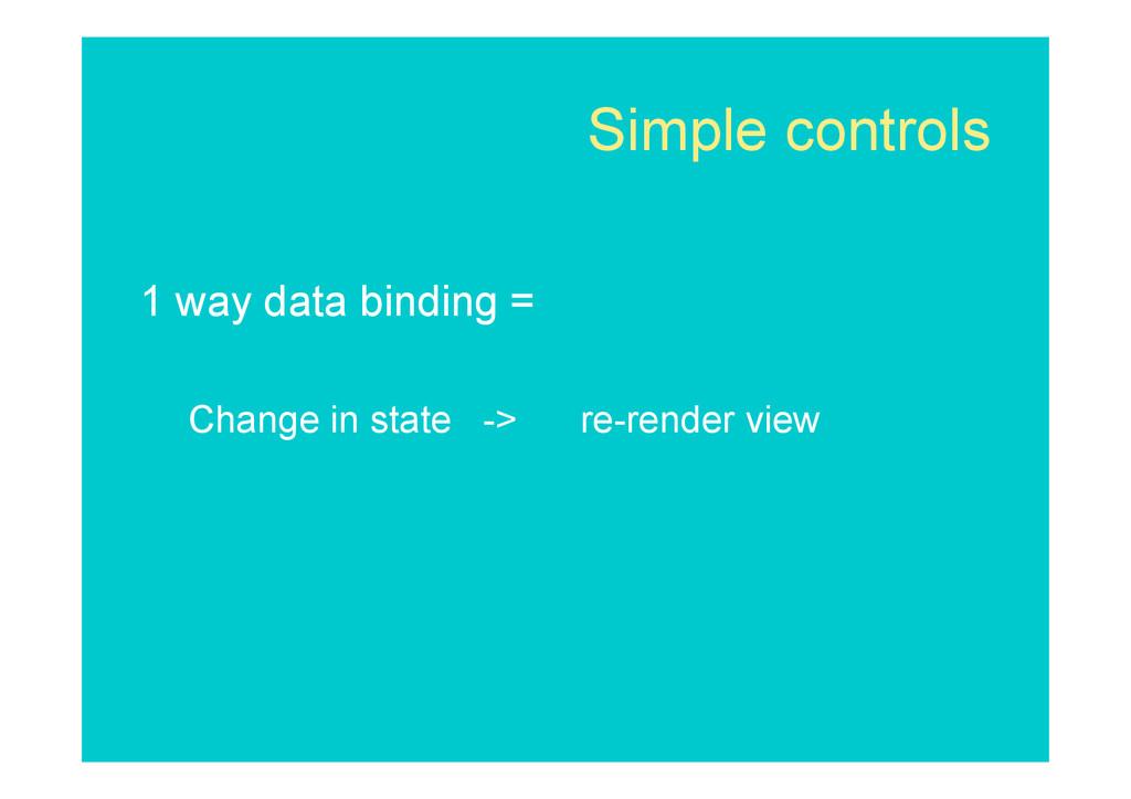 Simple controls 1 way data binding = Change in ...