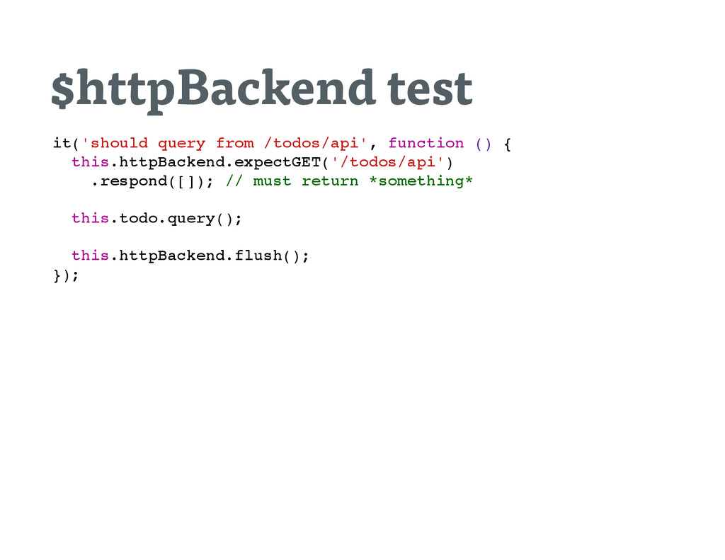 $httpBackend test i t ( ' s h o u l d q u e r y...