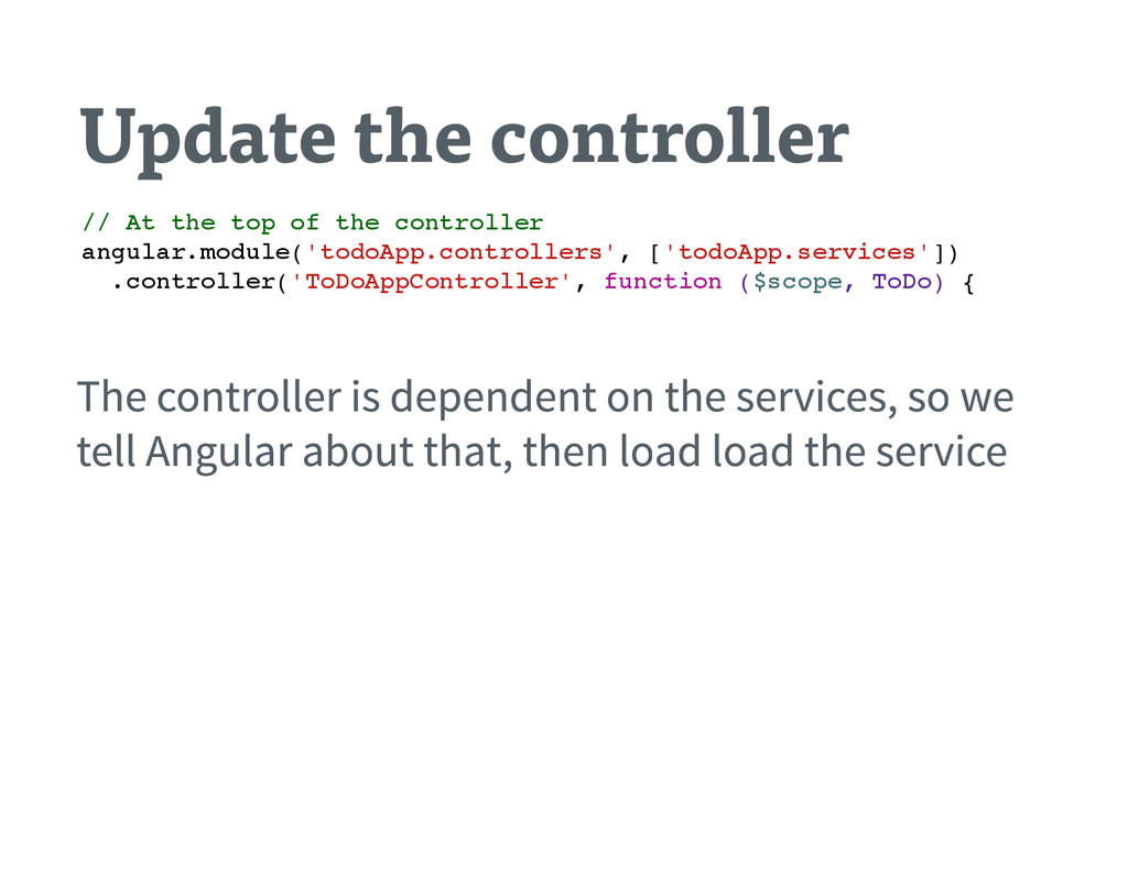Update the controller / / A t t h e t o p o f t...