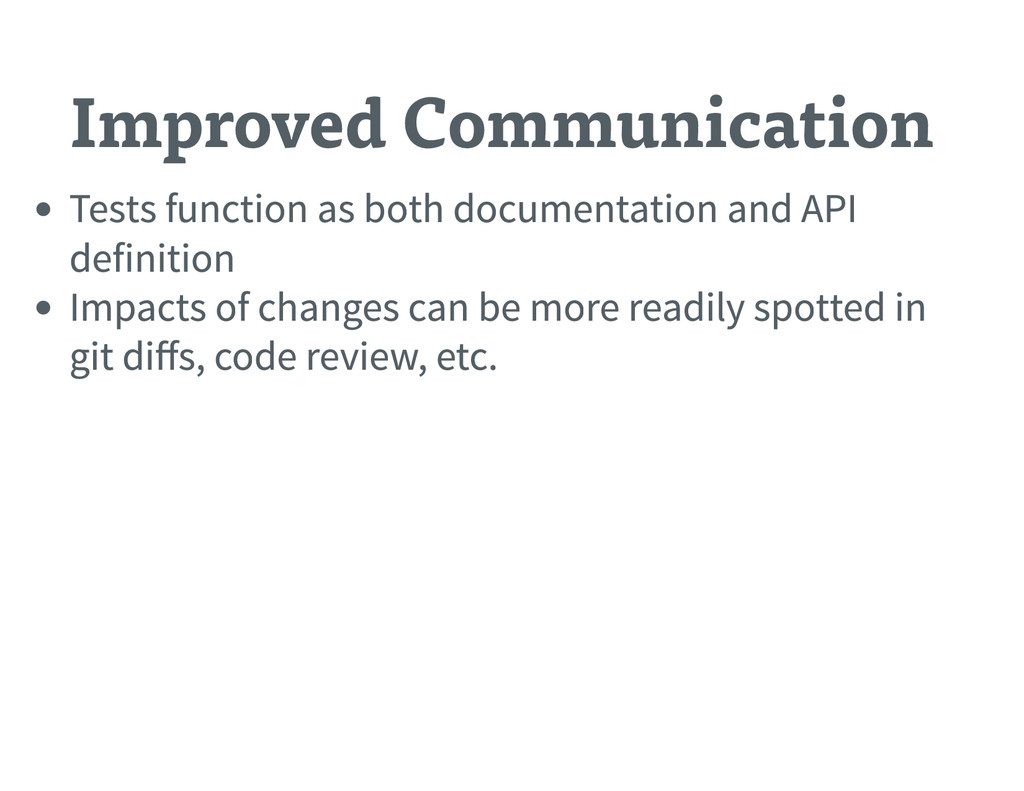 Improved Communication Tests function as both d...
