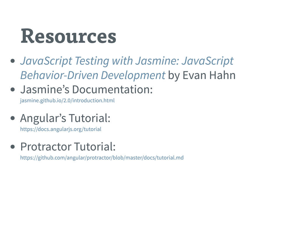 Resources by Evan Hahn Jasmine ' s Documentatio...