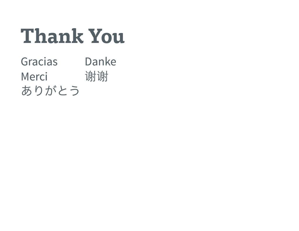 Thank You Gracias Danke Merci 谢谢 ありがとう