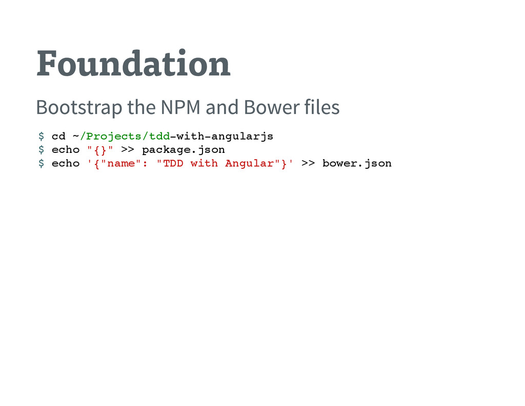 Foundation Bootstrap the NPM and Bower files $ ...