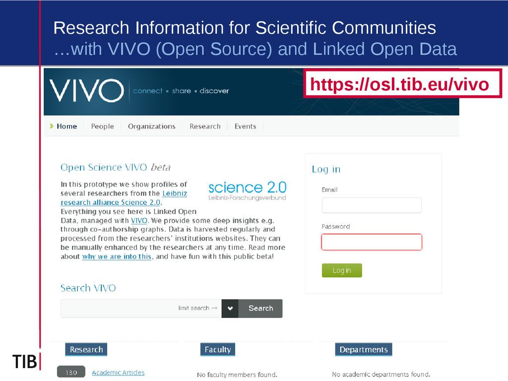 2 Research Information for Scientific Communiti...